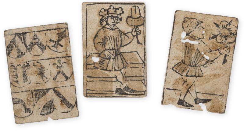 Alte Spielkarten ca. 1500 Jahrhundert