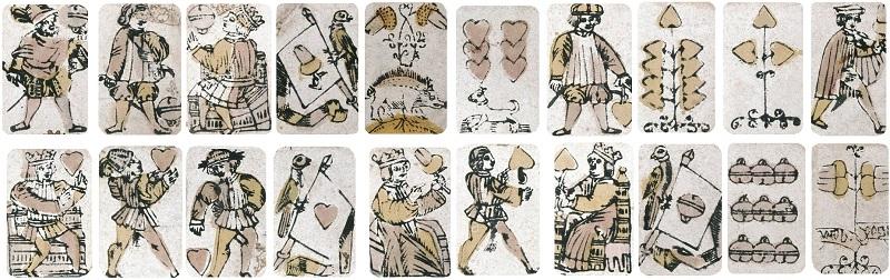 Ursprung der Spielkarten.... hier als Beispiel aus dem 1700 Jahrhundert
