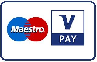 V-Pay von Maestro ist ein internationaler Debitkarten-Dienst (EC). Die Transaktions Gebühr beläuft sich auf 2,5 % des Gesamtbetrags. Diese Zahlungsmethode mittels sum up ist nur bei pers. abholung verfügbar. Transaktionsgebühren: 3 %