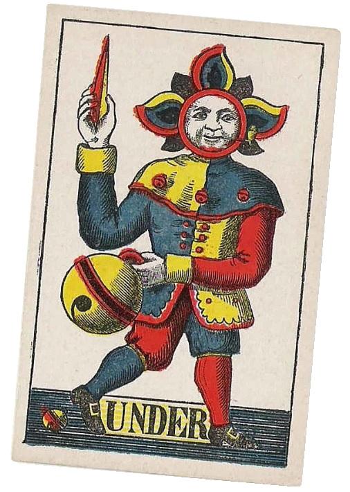 Einköpfiges Kartenbild von Jakob Peyer.